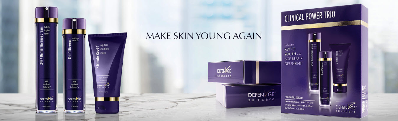 defenage skincare product line